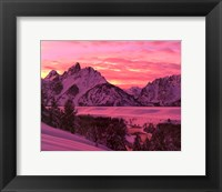 Framed Teton Sunset