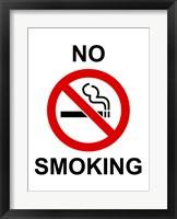 Framed No Smoking - sign