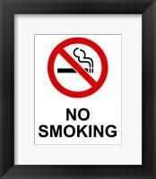 Framed No Smoking - Small