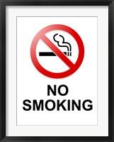 Framed No Smoking