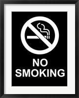 Framed No Smoking - Black and White