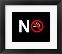 Framed No Smoking - NO SIGN (Small)