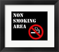 Framed Non Smoking Area