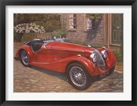 Framed Riley Red Roadster