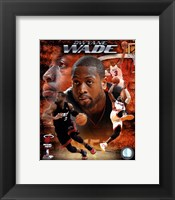 Framed Dwyane Wade 2010 Portrait Plus