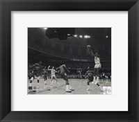 Framed Michael Jordan University of North Carolina Game winning basket in the 1982 NCAA Finals against Georgetown Horizontal Action