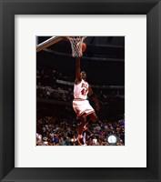 Framed Michael Jordan 1994-95 shooting