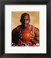 Framed Michael Jordan 1990 Posed