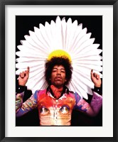 Framed Jimi Hendrix Fan Portrait
