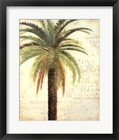 Palms and Scrolls II Framed Print