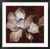 Framed Amaryllis on Red II