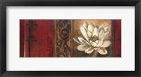 Red Eclecticism with Water Lily Framed Print