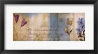 Wildflower Panel II Framed Print