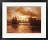 Golden Lake Glow I Framed Print