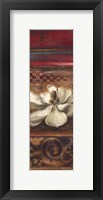 Red Eclecticism with Magnolia Framed Print