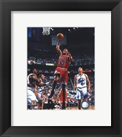 Framed Scottie Pippen Game 2 of the 1998 NBA Finals Action