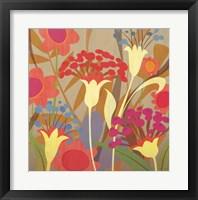 Floral Folio I Framed Print