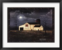 Framed Moonlit Farmstead