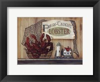 Framed Fresh Caught Lobster