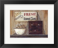 Steamed Clams Framed Print