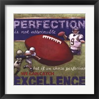 Perfection- Football Framed Print