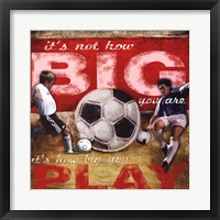 Big Play Framed Print