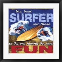 Framed Fun- Surfing