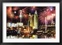 Framed Las Vegas Fireworks