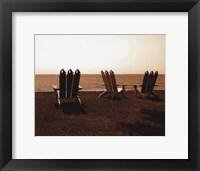 Adirondack Chairs II - mini Framed Print