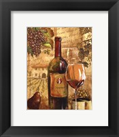 Framed Wine Collage I - mini