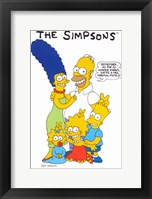 Framed Simpsons Family