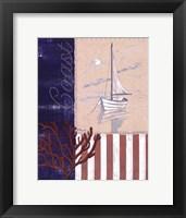 American Coastal I Framed Print
