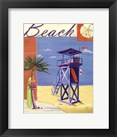 Lifeguard Collage III Framed Print