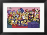 Framed Simpsons Cast on Couch