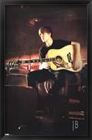 Framed Justin Bieber - Guitar