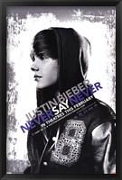 Framed Justin Bieber - Never Say Never