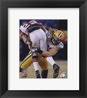 Framed Clay Matthews 2010 NFC Championship Game Action