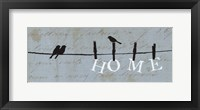 Birds on a Wire - Home Framed Print