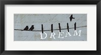 Birds on a Wire - Dream Framed Print