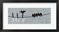 Birds on a Wire - Joy Framed Print