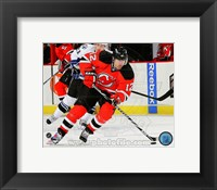 Framed Brian Rolston Passing Hockey Puck