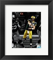 Framed Aaron Rodgers Spotlight Action from Super Bowl XLV