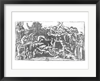 Framed Hell, from 'The Divine Comedy' by Dante Alighieri (1265-1321)