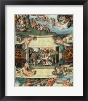 Framed Sistine Chapel Ceiling (1508-12): The Sacrifice of Noah, 1508-10