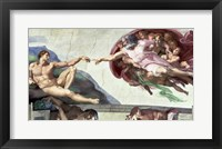 Framed Sistine Chapel Ceiling (1508-12): The Creation of Adam, 1511-12