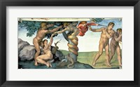 Framed Sistine Chapel Ceiling (1508-12): The Fall of Man, 1510