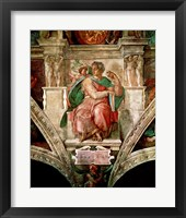 Framed Sistine Chapel Ceiling: The Prophet Isaiah