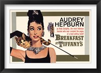 Framed Audrey Hepburn (Breakfast At Tiffany's)