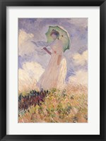 Framed Woman with Parasol turned to the Left, 1886