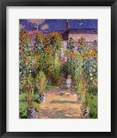 Framed Artist's Garden at Vetheuil, 1880